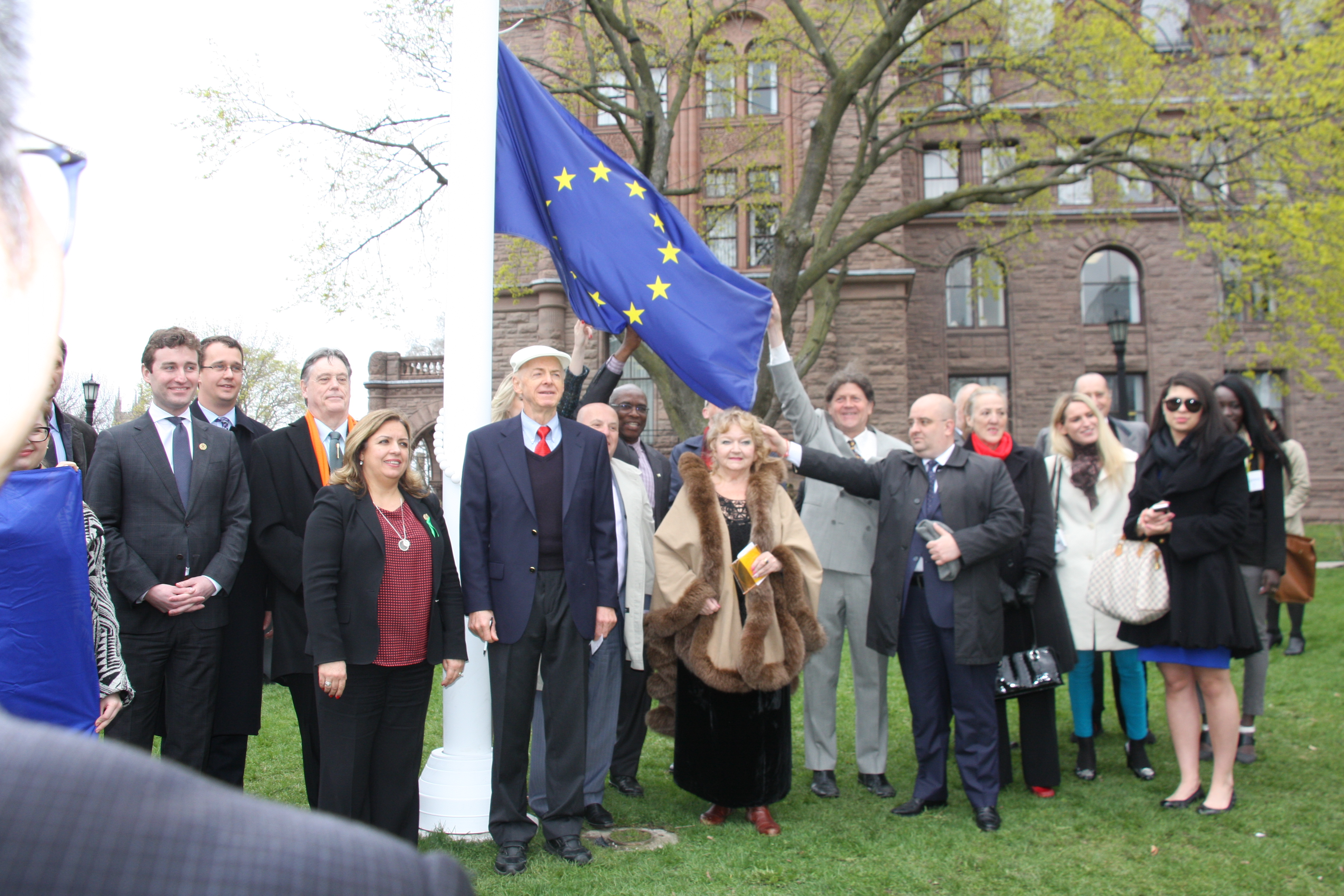 Europe_Day_Yvan_Baker_MPP_Paul_Miller_MPP_Cristina_Martins_MPP_Tony_Ruprecht_former_MPP_Violette_Goldyn_Moussouni_May_2_2016_Queens_Park_European_Club_Canada_Goldyn_Foto_IMG_8542